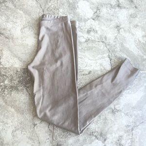 American Apparel gray silver disco legging pants